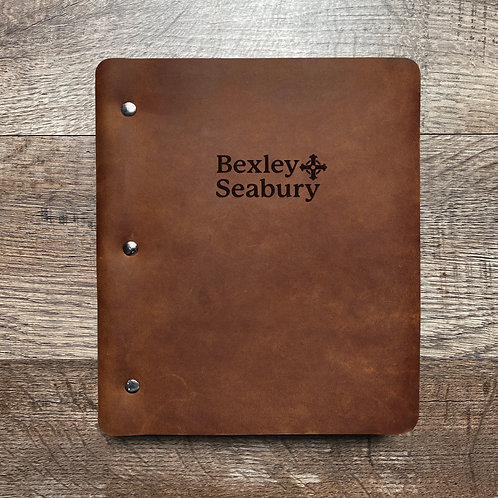 Custom Order Jim P - Wide Cut - Refillable Leather Binder 20210208