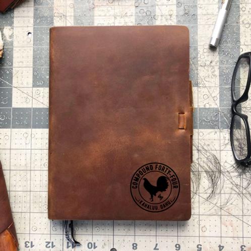 Custom Order Miranda M - Metric Cut - Refillable Leather Journal 20210105