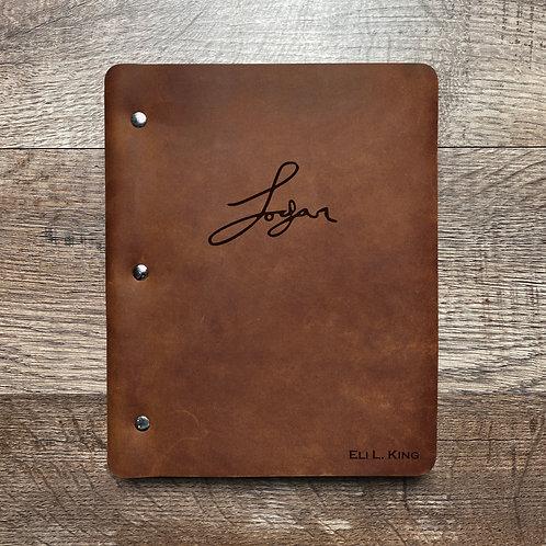 Custom Order Tony K - Slim Cut - Refillable Leather Binder 20201202