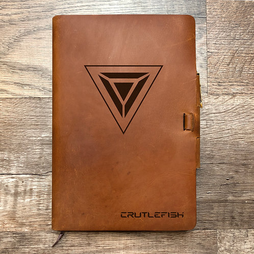 Custom Order Mel P - Campfire Classic Cut - Refillable Leather Journal 20201217