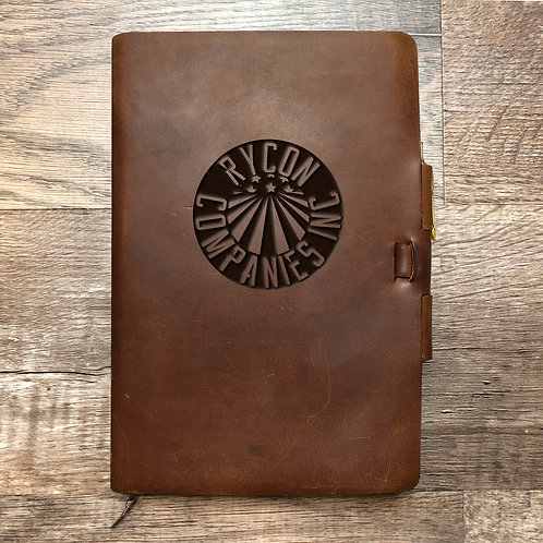 Custom Order Emily C - Classic Cut - Refillable Leather Journal - Rycon