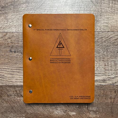 Custom Order Andrew P - Slim Cut - Refillable Leather Binder 20200910