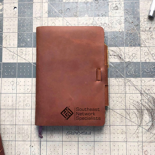 Custom Order William O - Mini Cut - Refillable Leather Journal 20200804