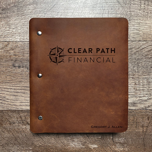 Custom Order Gregory A - Wide Cut - Refillable Leather Binder 20201230