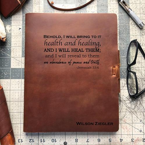 Nicolette Z 20200519 Metric Cut - Refillable Leather Journal