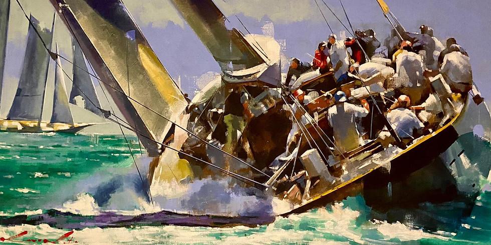 Vernissage du peintre de la Marine et des Armées Yong Man KWON