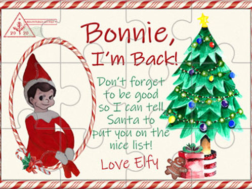 Elf is Back Personalised Puzzle
