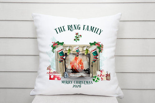 Personalised Christmas Fireplace Cushion