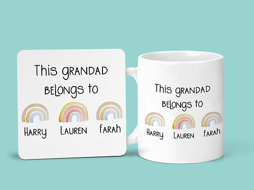 This Grandad belongs to mug & coaster set