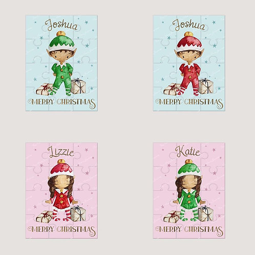 Personalised ChristmasElf Puzzle (4 options)