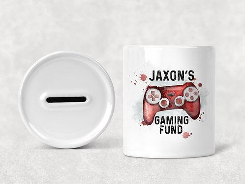 Personalised Gaming Fund Money Box / Gamer Money Savings Pot
