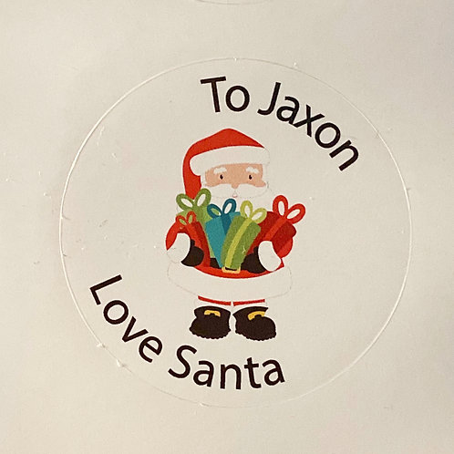 Personalised Christmas Stickers From Santa