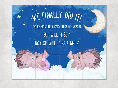Pregnancy Announcement - We Are Pregnant Jigsaw Puzzle
