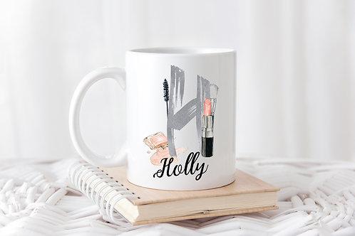 Personalised Makeup / Beauty Initial Mug