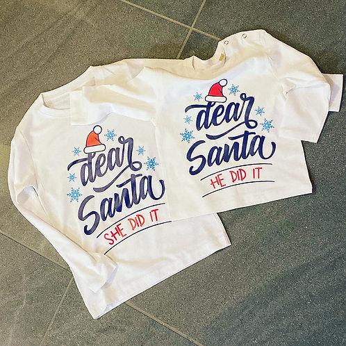 Dear Santa Long Sleeve Top