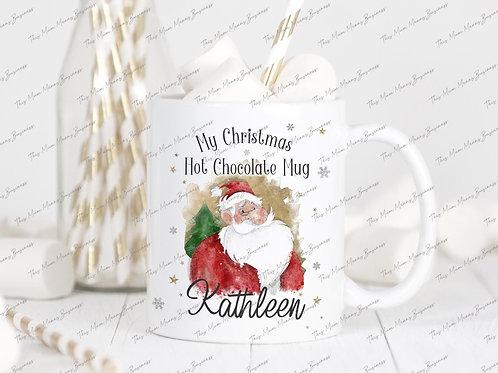 Personalised Christmas Hot Chocolate Mug & Coaster Set