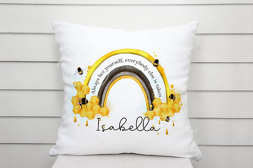 Personalised Always Bee Yourself Cushion
