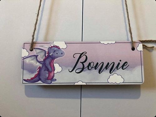 Personalised Dragon Bedroom Door Sign
