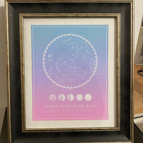 Personalised Star Map Print (print only)