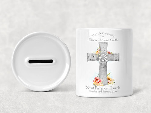 Personalised Holy Communion Gift - Savings, Money Box