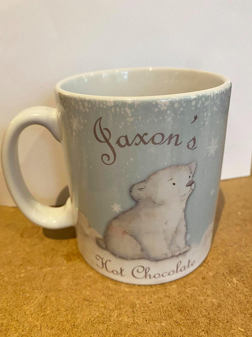 Personalised Polar Bear Christmas Mug