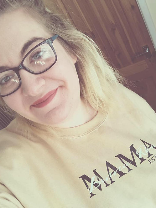 Personalised Mama Est Sweatshirt