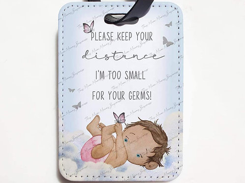 Baby Girl / Baby Boy Social Distancing No Germs Please Pram Tag