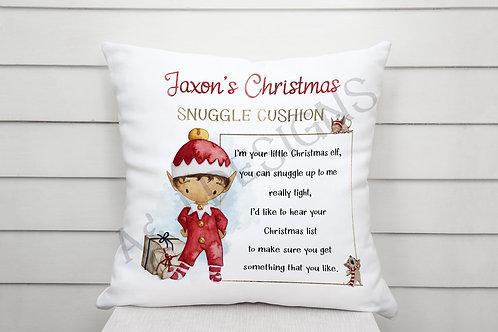 Personalised Christmas Snuggle Cushion