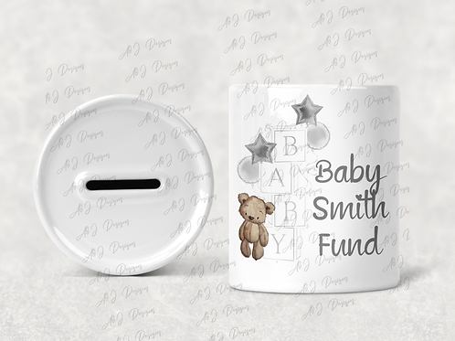 Personalised Baby Fund Money Box - Trying to Conceive / New Baby