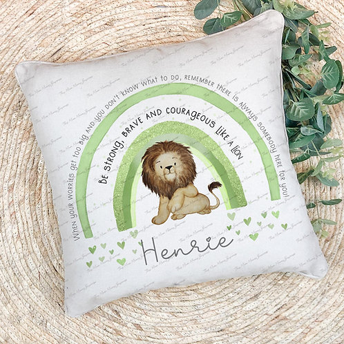 Personalised Be Strong, Brave and Couragous Cushion