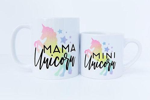 Mama & Mini Unicorn Mug Set