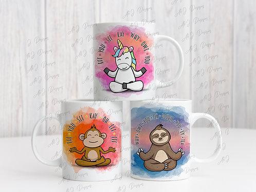 Subtly Insulting Animal Mug (Sloth - Unicorn - Monkey)