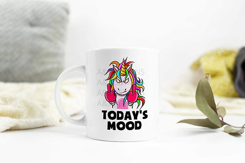 Today's mood unicorn mug