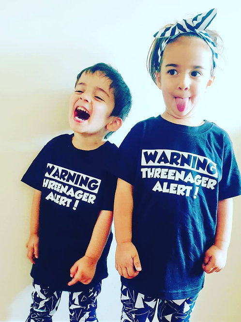 WARNING! Threenager Alert T-Shirt