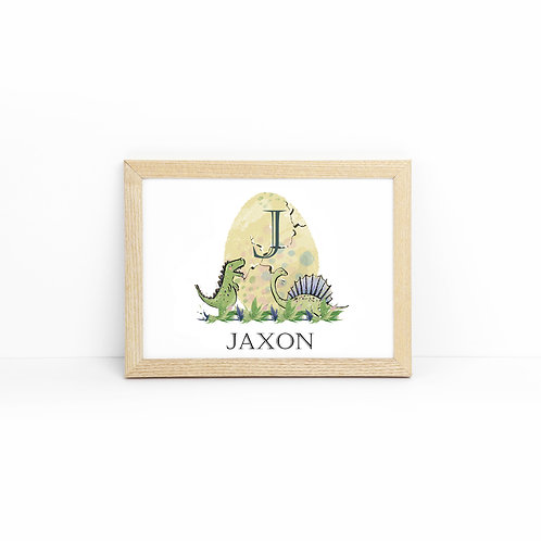 Personalised Boy's Dinosaur Print (print only)