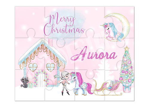 Personalised Christmas Unicorn Puzzle