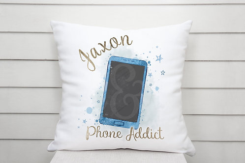 Personalised Phone Addict Cushion