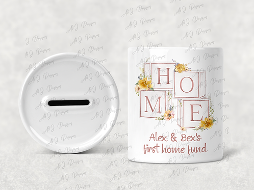 Personalised 1st home fund money box