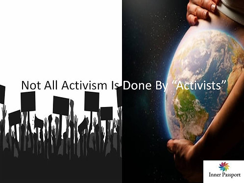"""Not all Activism is done by """"Activists"""" Autographed Sticker"""