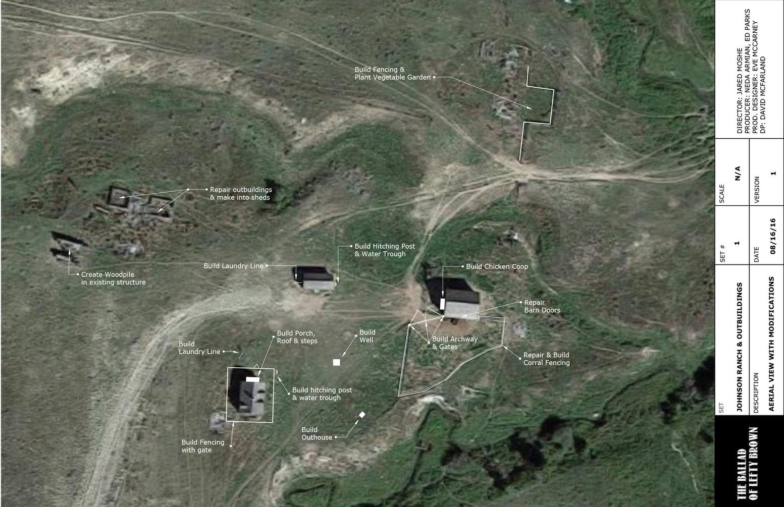 Ranch Aerial Plan & Notes