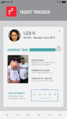 Taskit App Interface Design