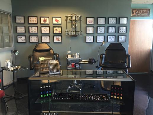 Finished Tattoo Shop Set - After