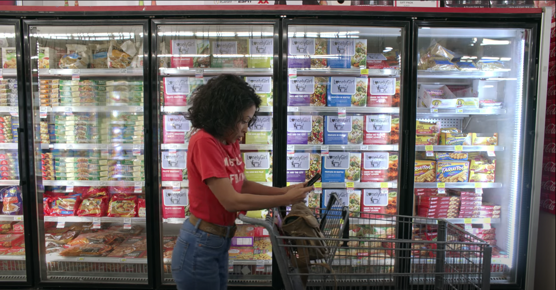 Production Still of Grocery Aisle