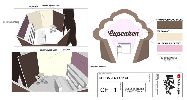 Cupcaken Set Plan - built on location