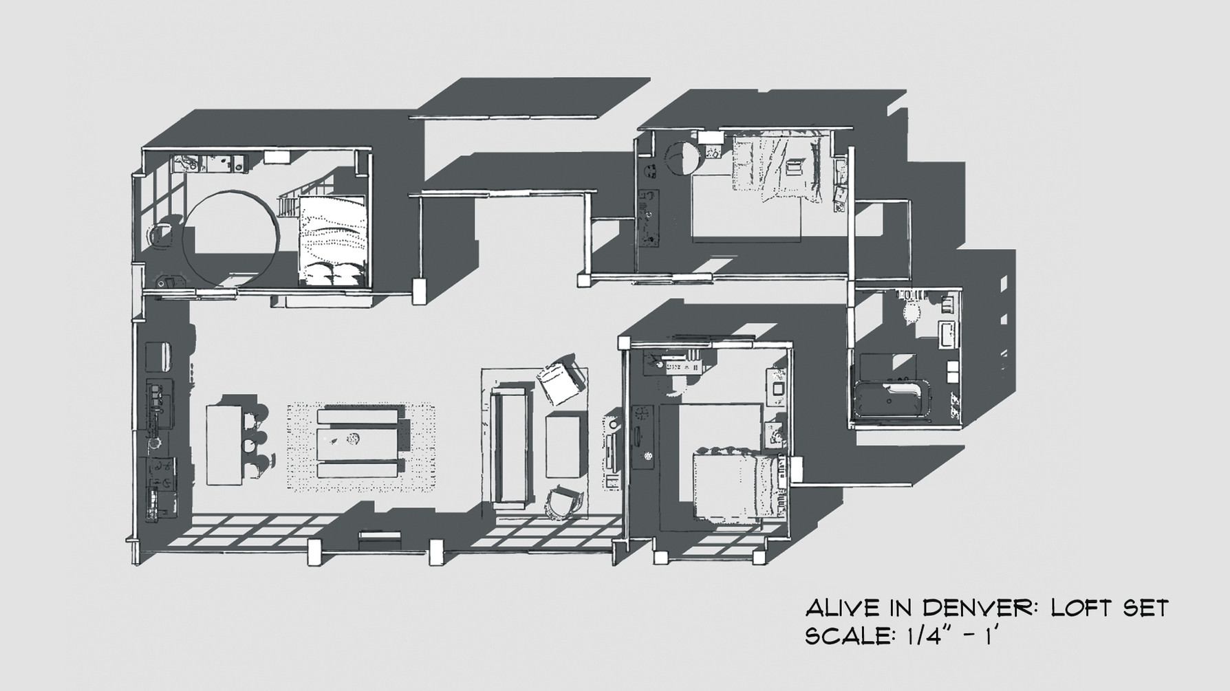 Loft Apartment Set Plan