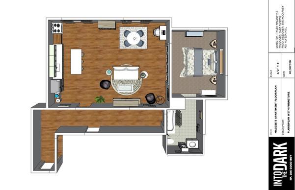 Maggie's Apartment Set Floorplan
