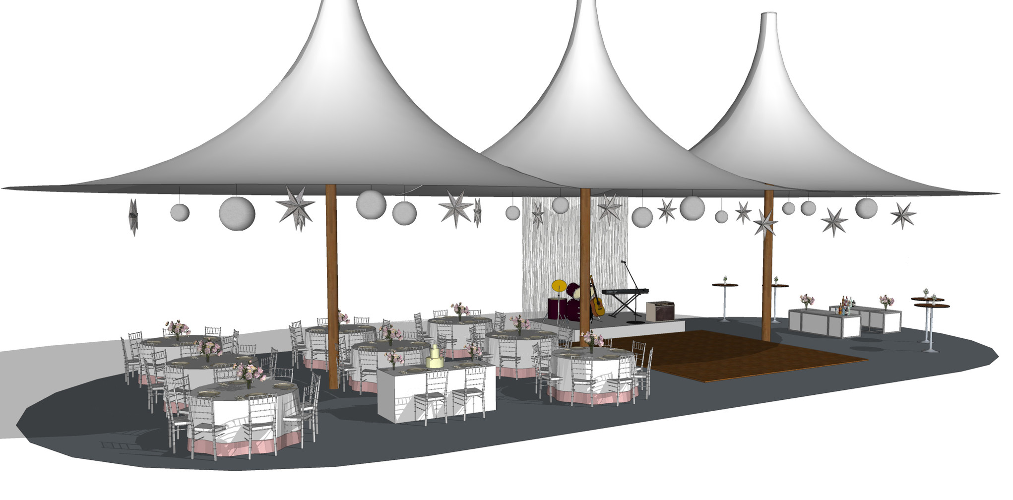 Wedding Tent Sketch