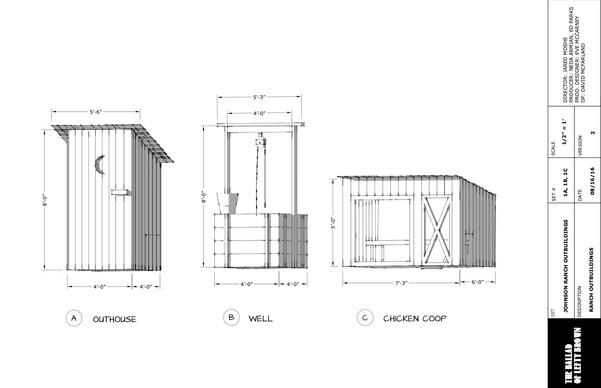 Set Plans for Ranch Outbuildings