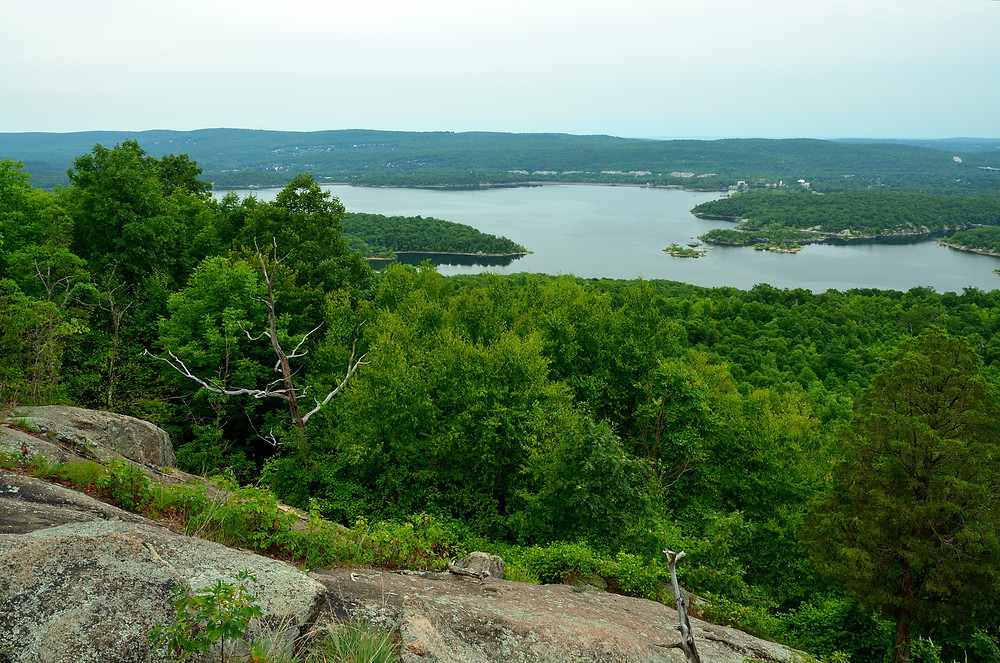 The grand view of the Wanaque Reservoir on Carris HIll