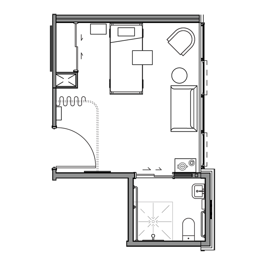 Sample Care Studio Floor Plan